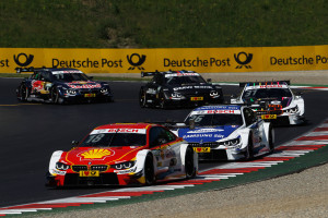 Spielberg (AT) 22th May 2016. BMW Motorsport, Race 04, Augusto Farfus (BR) Shell BMW M4 DTM, Maxime Martin (BE) SAMSUNG BMW M4 DTM, Tom Blomqvist (GB) Ice-Watch BMW M4 DTM, Bruno Spengler (CA) BMW Bank M4 DTM and Marco Wittmann (DE) Red Bull BMW M4 DTM.